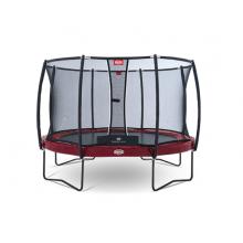 Батут Berg Elite 380 см + сетка T-series 380 см (красный) + лестница