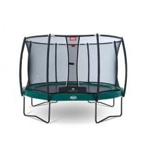 Батут Berg Elite 380 см + сетка T-series  380 см (зеленый) + лестница