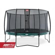 Батут Berg Elite 430 см + сетка Deluxe 430 см (зеленый)
