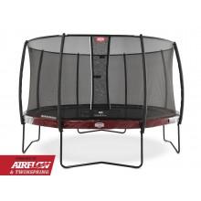 Батут Berg Elite 430 см + сетка Deluxe 430 см (красный)